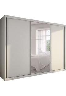 Guarda-Roupa Casal Com Espelho Malma Gold 3 Pt Branco