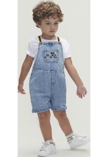 Conjunto Manga Curta Menino Em Jeans Toddler
