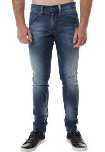 Calça Jeans Armani Exchange Masculina Blue Worn Out Skinny - 26957
