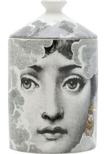 Fornasetti Vela Com Estampa Face - Preto