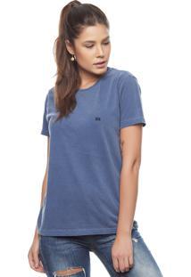 Camiseta Bossa Brasil Logo B Azul Estonada