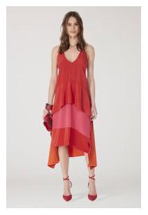 Vestido Cecilia Liso Vermelho Madri