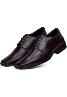 Sapato Social 3Ls3 Tamanho Especial Masculino - Masculino-Marrom