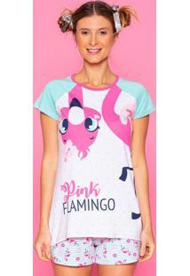 Short Doll Flamingo- Verde ÁGua & Rosa Claropuket