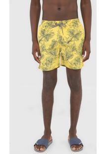 Bermuda ÁGua Broken Rules Quadrada Folhagem Amarela - Amarelo - Masculino - Poliã©Ster - Dafiti
