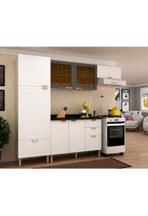 Cozinha Compacta Nevada V 7 Pt 4 Gv Branca E Grafite