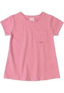 Blusa Infantil Em Malha Trabalhada Quimby Feminino - Feminino