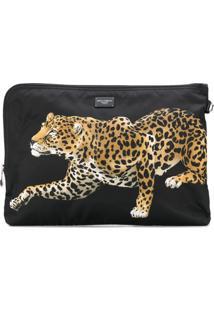Dolce & Gabbana Clutch Com Estampa - Preto