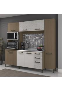 Cozinha Compacta Sol 7 Pt 3 Gv Amêndoa E Branca