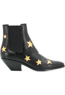 Saint Laurent Ankle Boot West Star - Preto