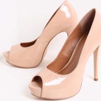 0c6c0d43d Lojas Renner. Sapato Feminino Peep Toe Envernizado Satinato