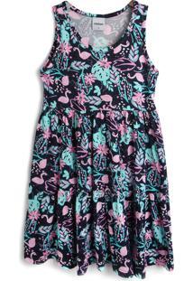 Vestido Rovitex Flamingo Azul-Marinho