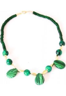 Colar Liah Malaquita Verde - Tricae