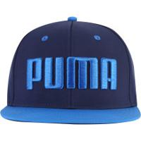 Boné Aba Reta Puma Flatbrim - Snapback - Adulto - Azul Escuro d6710b82ed7