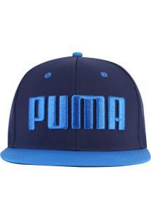 242a9f7ba3f29 Boné Aba Reta Puma Flatbrim - Snapback - Adulto - Azul Escuro