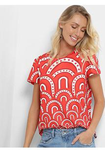 Camiseta My Favorite Thing (S) Feminina - Feminino-Rosa+Branco
