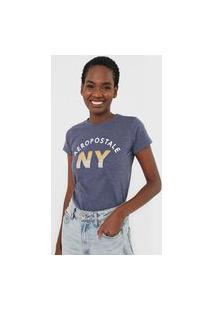 Camiseta Aeropostale Nova York Azul