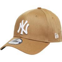 Boné New Era Aba Curva Fechado Mlb Ny Yankees Colo - Unissex-Bege a41f1fdae34