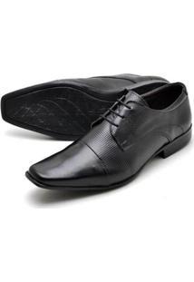 Sapato Social Couro Reta Oposta Bico Quadrado Masculino - Masculino