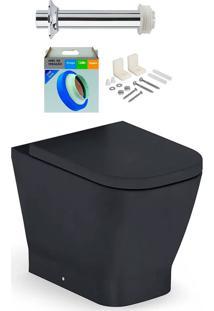 Kit Bacia Sanitária Convencional Com Assento Gap Onix + Conjunto De Fixação, Tubo De Ligação E Anel De Vedação - Roca - Roca