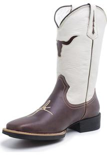 Bota Fidalgo Boots Country Crazy Horse Café Float Marfim