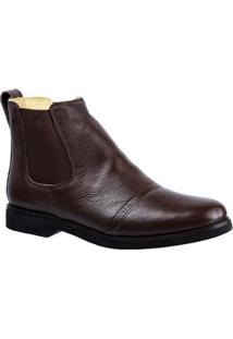 Bota Couro Floater 8611 Doctor Shoes Masculina - Masculino-Café
