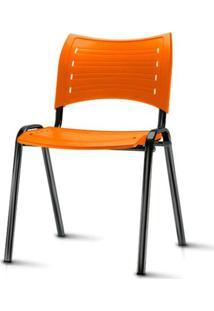 Cadeira Iso Assento Laranja Base Preta - 54031 - Sun House