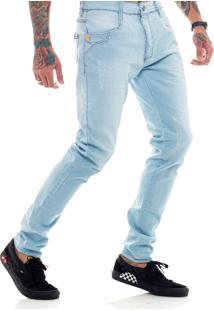 Calça Rich Young Jeans Básica Simples Azul Claro
