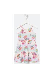 Vestido Infantil Floral Fit Alcinha - Tam 1 A 5 Anos | Póim (1 A 5 Anos) | Multicores | 02