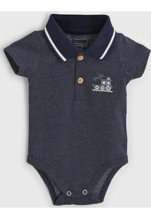 Body Brandili Infantil Polo Azul-Marinho