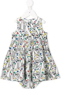 Stella Mccartney Kids Vestido Com Estampa De Girafa - Branco