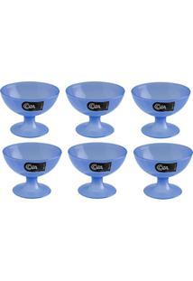 Taça Para Sobremesa Coza 150Ml Cozy - 6 Unidades - Azul - Kanui