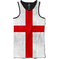 Regata Bsc Bandeira Inglaterra Sublimada Masculina - Masculino-Branco+ Vermelho 64043a6813f
