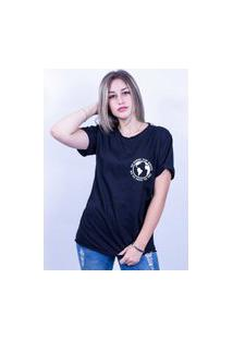 Camiseta Corte A Fio Bilhan Sorry For Whats Pqn Preta