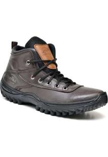 Bota Adventure Sandro Republic Himalaia Marrom Escuro Coffee