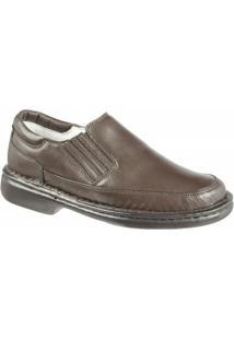 Sapato Confort Ranster Tradicional - Masculino-Café