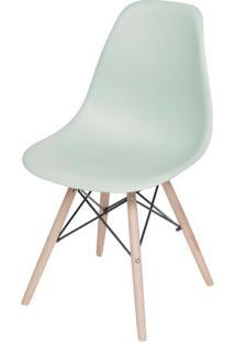 Cadeira Eames Polipropileno Verde Claro Fosco Base Madeira - 49330 Sun House