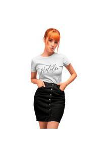Camiseta Feminina Mirat Gratidão Branca
