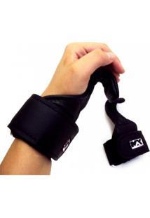 Hook Strap Max Force Gancho Musculação Preta