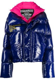 Dsquared2 Two Tone Padded Jacket - Azul