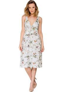 Vestido Midi Estampa Floral Colcci