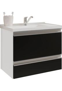 Gabinete De Banheiro Messina 1 Pt 1 Gv Branco E Preto