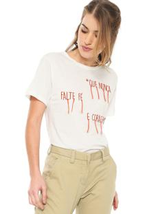 Camiseta Cantão Bordado Off-White