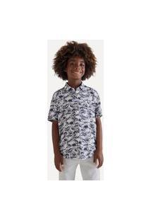 Camisa Mini Sm Fullprint Ondas Casual Reserva Mini Branco