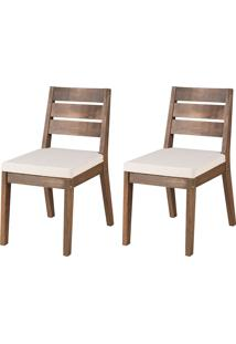 Cadeira Estofada Fortaleza (Kit Com 2) - Nogueira