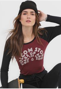 Camiseta Volcom Stone Vinho - Vinho - Feminino - Dafiti