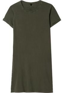 Camiseta John John Sam Malha Algodão Verde Feminina (Verde Medio, Pp)