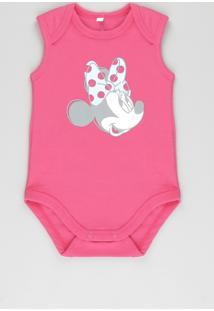 Body Minnie Em Algodão + Sustentável Pink