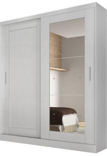 Guarda-Roupa Solteiro Com Espelho Naia Branco 2 Pt 3 Gv