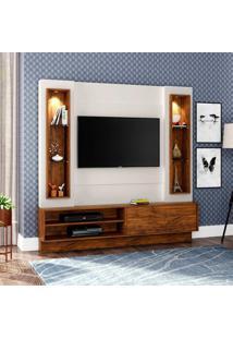 Painel Barroso Para Tv 40 Polegadas Com Led Branco Brilho Off-White E Nobre 180 Cm